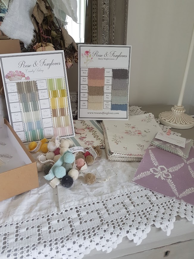 Trade box floral linens by rose and foxgloves