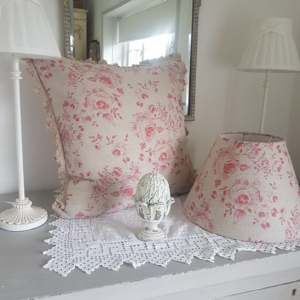 Naturals Collection Provence Red Roses Cushion and Lampshade